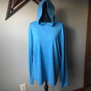 LULULEMON Blue long sleeve hooded Meshter T